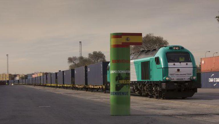 Primeiro trem de direto da China chega a Madri, em dezembro.