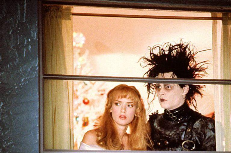 O maior dos sucessos: Johnny Depp, com 27 anos, e Winona Ryder, com 19, em 'Edward Mãos de Tesoura´