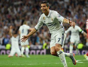 Cristiano Ronaldo marcou três gols contra o Bayern.