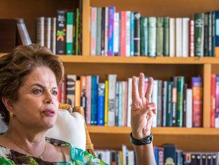 Dilma Rousseff em entrevista na última quarta-feira.