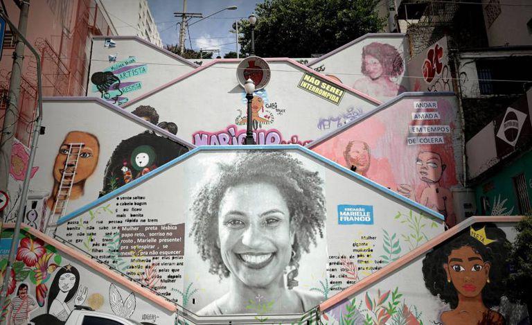 Mural em São Paulo em homenagem a Marielle Franco