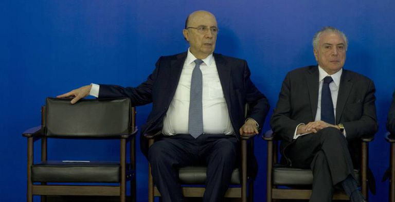 O ministro Meirelles e o presidente Temer, no dia 10.