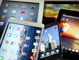 Tablets de diferentes tamanhos e fabricantes.