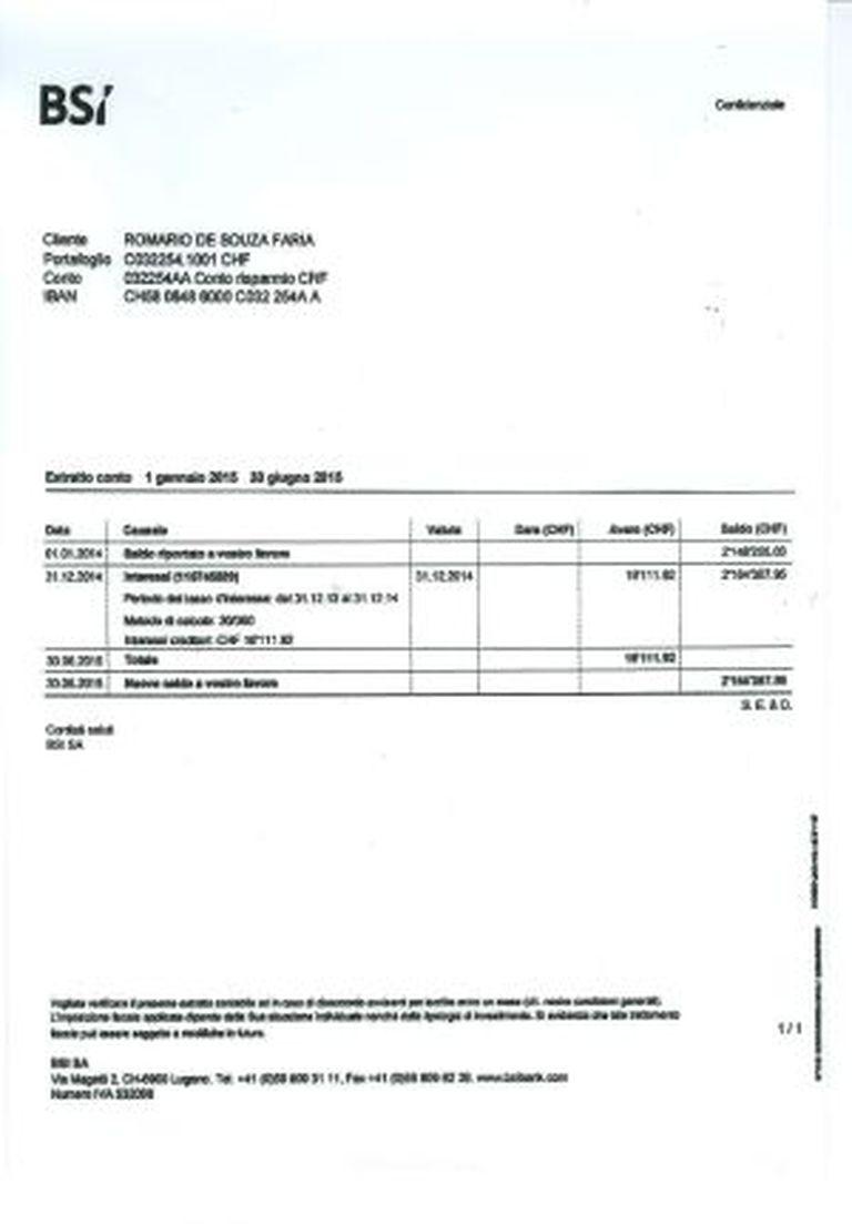 Extrato bancário publicado pela 'Veja'.