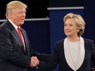 Trump e Clinton no debate anterior