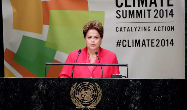 A presidenta Dilma na cúpula da ONU.