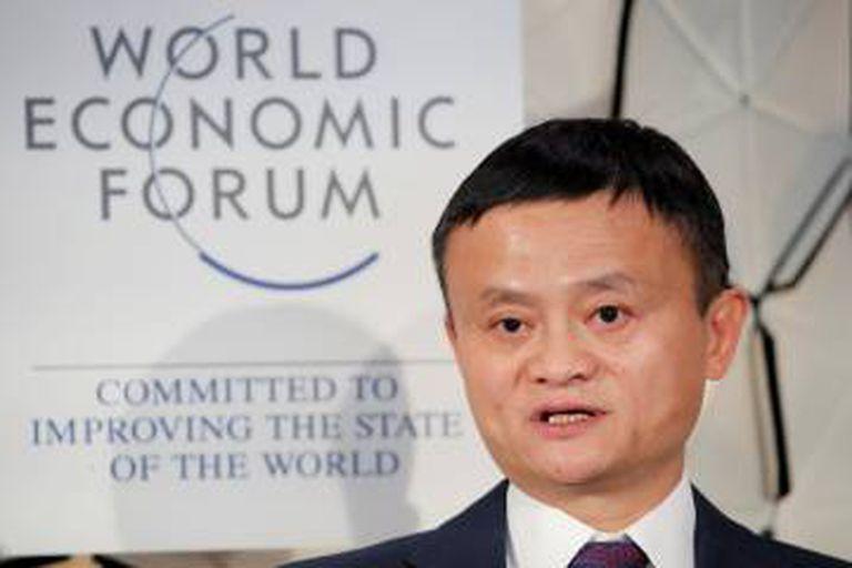 Jack Ma, fundador do Alibaba, em janeiro em Davos.
