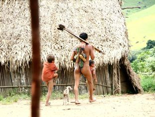 O povoado ianomâmi foi descoberto em 2008 e sua localização não foi revelada para se respeitar seu mundo e protegê-lo do exterior.