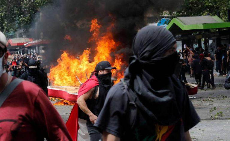 Protestos no Chile.