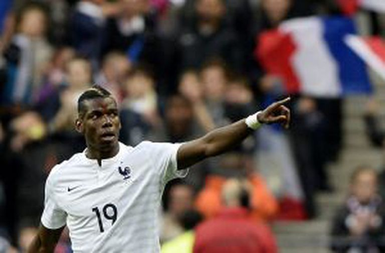 O francês Pogba na partida contra a Noruega.