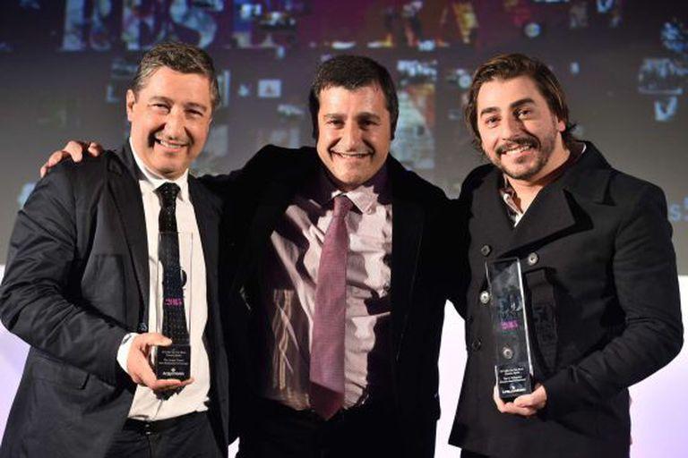 Joan, Josep e Jordi Roca, depois da premiação.