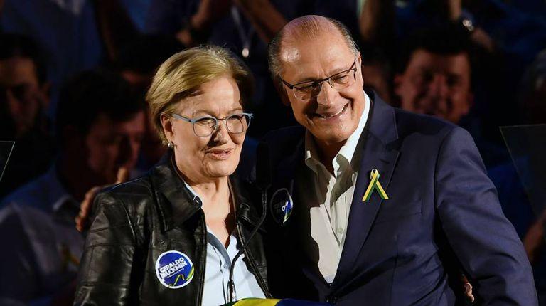Ana Amélia e Geraldo Alckmin.
