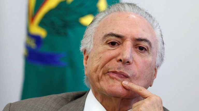 O presidente Michel Temer no dia 20, em Brasília.