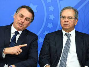 Presidente Jair Bolsonaro e ministro da Economia, Paulo Guedes.