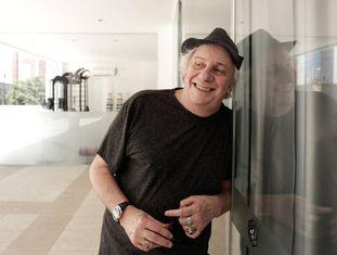 O ator Marco Nanini, depois da entrevista.