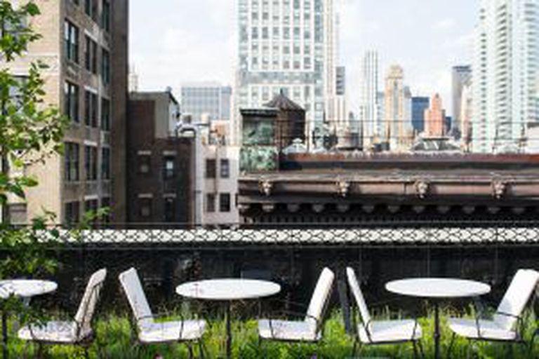 Terraço do hotel Nomad, em Nova York.