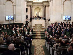 Reunião anual dos membros da Academia Francesa, em dezembro de 2016, em Paris.