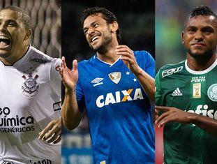 Ronaldo, Fred e Borja: contratações milionárias do futebol no Brasil.