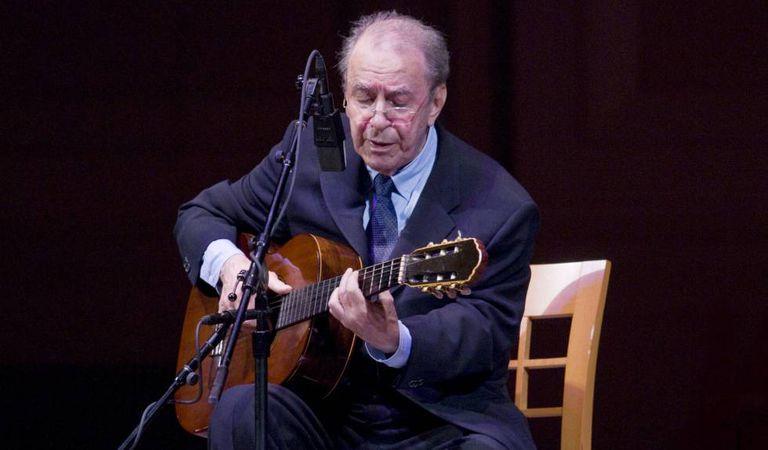 João Gilberto num show em Nova York em 2008.
