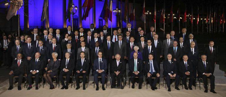 Os membros da reunião de ministros de Finanças do G20.