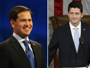 Marco Rubio (esq) e Paul Ryan.
