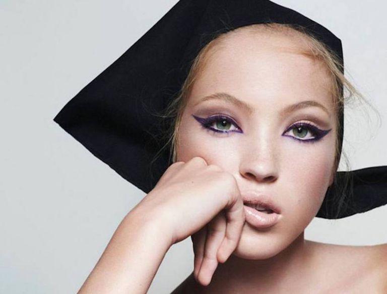 A filha de Kate Moss em sua primeira campanha.