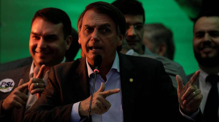 Jair Bolsonaro, no dia 22, no Rio.