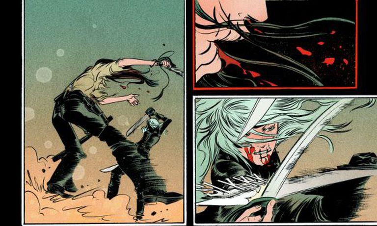 Página do primeiro volume de 'Bella Muerte'.
