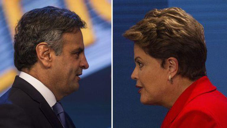 Aécio Neves e Dilma Rousseff, no último debate.