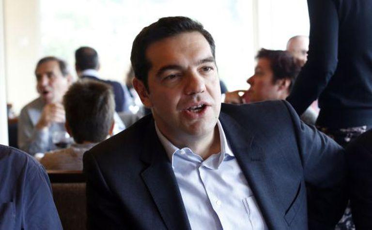 Alexis Tsipras, líder do Syriza, em Atenas no sábado.
