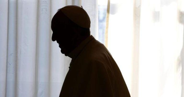 O papa em uma audiência com o presidente da Georgia.