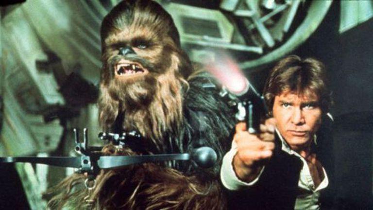 Ford e Chewbacca, em 'Star Wars'.
