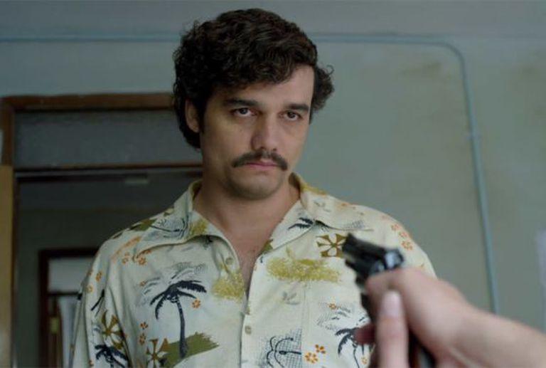 O Pablo Escobar de Wagner Moura em 'Narcos'.