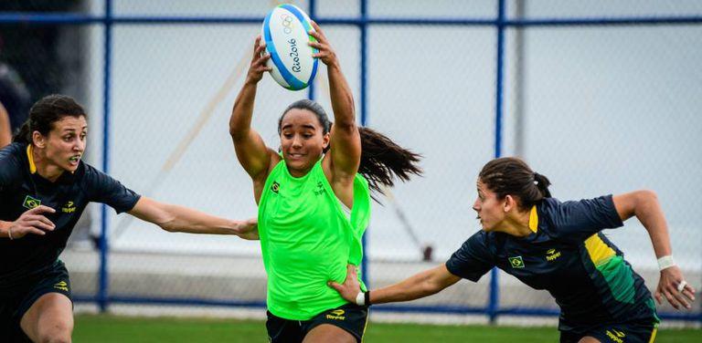 Edna Santini durante o treinamento no Rio de Janeiro.
