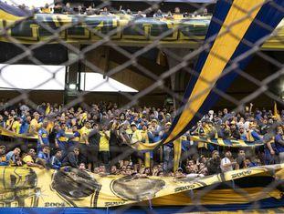A torcida do Boca Juniors no último clássico.