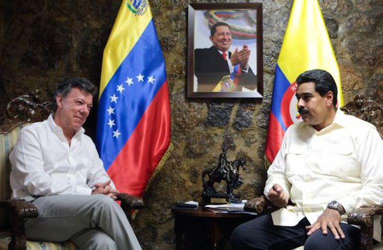 Santos e Maduro, em um encontro em 2013.