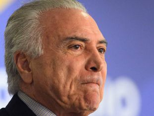 Michel Temer em Brasília, no último dia 20.