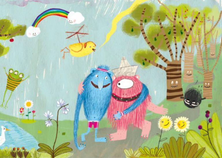 Uma das ilustrações do livro 'Monstro Rosa'