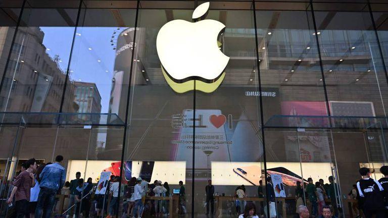 Uma loja da Apple na China.