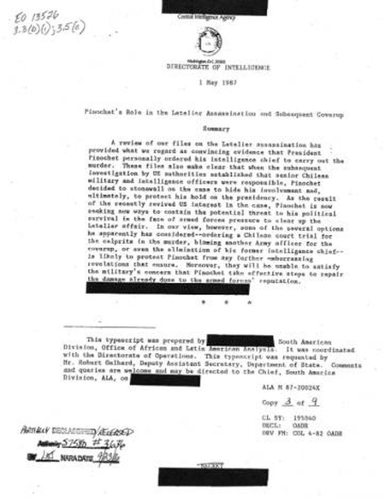 O documento divulgado nesta sexta-feira pelo governo norte-americano.