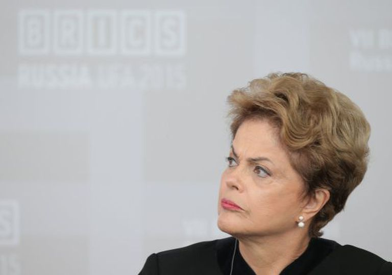 Dilma Rousseff, em julho de 2015