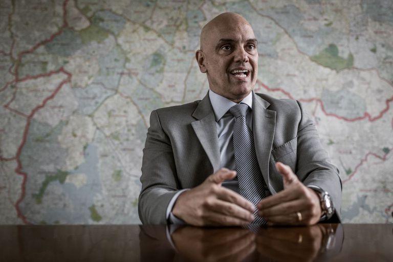 O secretário de Segurança Pública, Alexandre de Moraes.