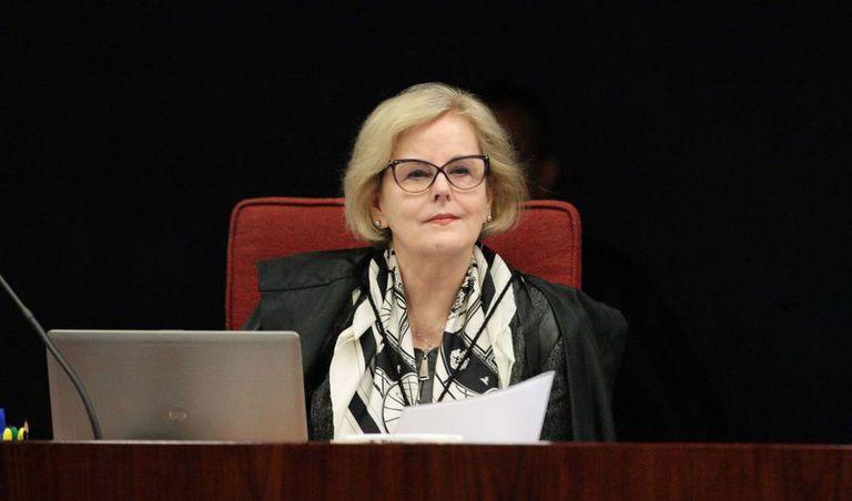 A ministra Rosa Weber numa sessão do STF no último dia 3 de outubro.