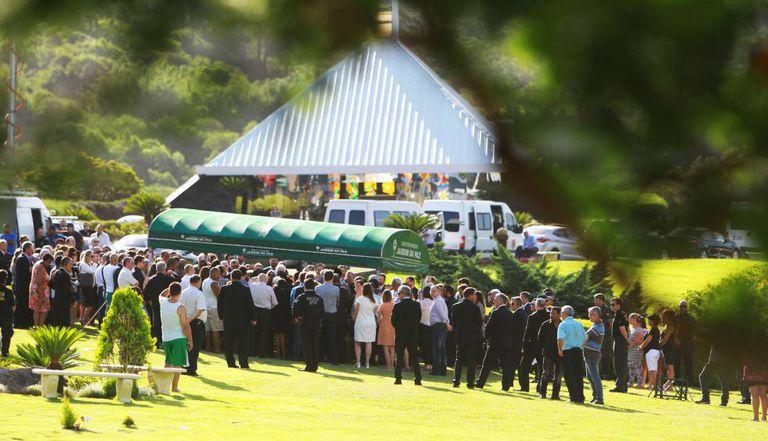 Enterro de Teori Zavascki, neste sábado, em Porto Alegre.