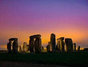 O monumento pré-histórico de Stonehenge.