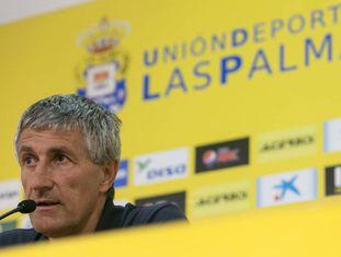 Quique Setién, treinador da Unión Deportiva Las Palmas.