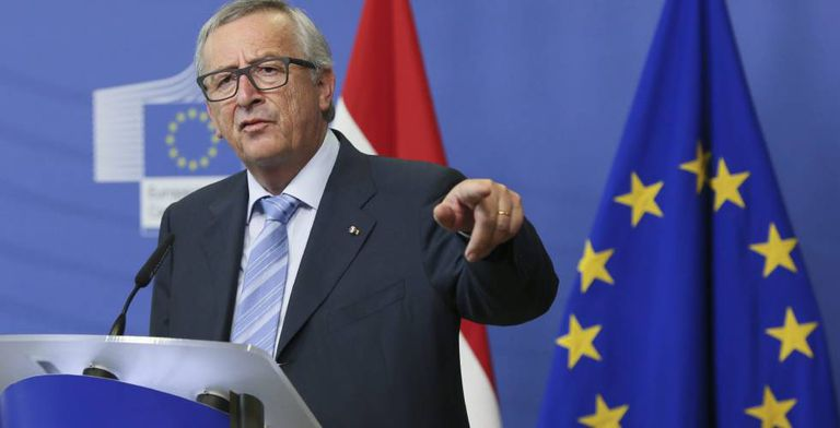 Jean-Claude Juncker fala na quarta-feira sobre a saída do Reino Unido em Bruxelas.