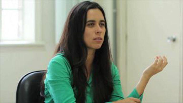 A defensora Daniela Skromov.