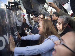 Protesto em Quito.