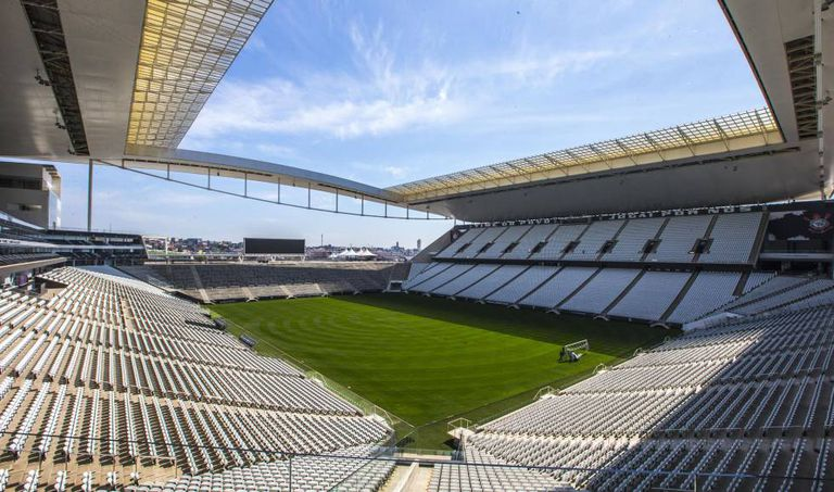 Arena Corinthians, estádio construído pela Odebrecht com recursos do BNDES via Caixa.